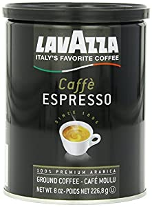 Lavazza Caffe Espresso Ground Coffee, 8-Ounce Cans