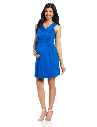 Image of Maternal America Women's Maternity V-halter Dress