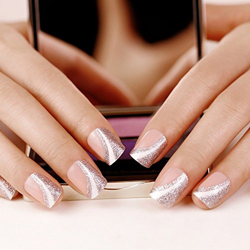 false-nails-french-manicure-saturn-silver-medium-artplus-full-cover-fake-nails-with-glue