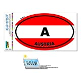 Austria Country Flag - A Euro Oval Flag SLAP-STICKZ(TM) Automotive Car Window Locker Bumper Sticker