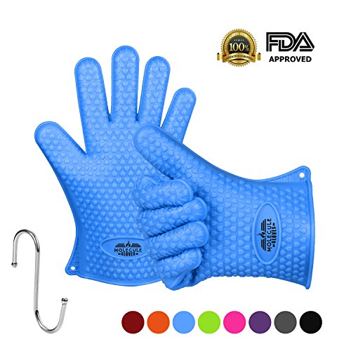 Molecule Gloves Kitchen Gloves-Heat Resistant Grilling BBQ-New Protective Oven- Grill, Baking, Smoking and Cooking Gloves (High Sauce Pot compare prices)