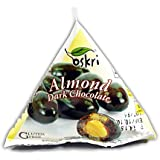Oskri Pyramid Snacks, Almonds and Dark Chocolate, 1 Ounce (Pack of 12)