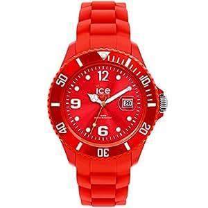 ICE-Watch - SI.RD.S.S.09 - Montre Femme - Quartz - Analogique - Bracelet Silicone Rouge