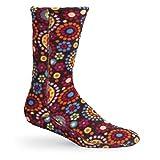 Acorn Womens VersaFit Socks in Chocolate Dots Size Medium