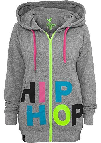 Urban Classics Hip Hop Ziphoodie, Farbe:lightgrey/multicolour;Größe:M