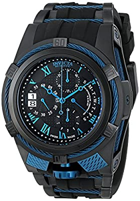 Invicta Men's 12674 Bolt Reserve Chronograph Black Textured Dial Black Silicone Watch