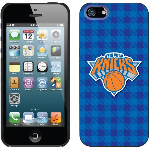 Best Price New York Knicks - Plaid Print design on a Black iPhone 5 Thinshield Snap-On Case by Coveroo