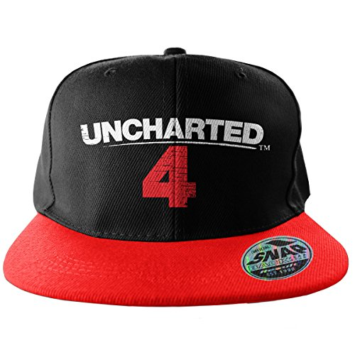 Officially Licensed Merchandise Uncharted 4 Adjustable Size Snapback Cap (Black/Red)