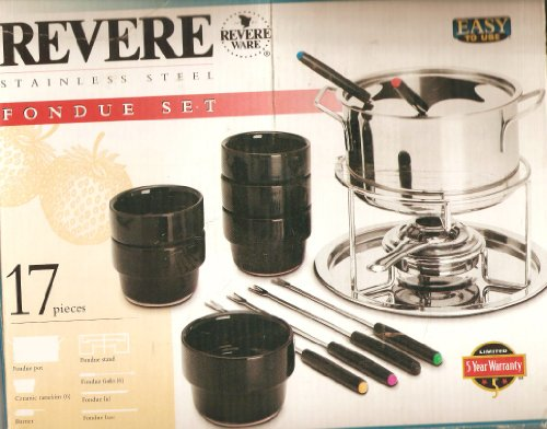 Brand New Revere 17-Piece Easy To Use Stainless Steel Fondue Set
