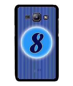 Fuson 2D Printed Numerology Designer back case cover for Samsung Galaxy J1 - D4225