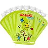 Reusable Food Pouch by Moshiko - Large 6oz. capacity (8-Pack) Perfect for Homemade, Wholesome, and Organic Baby Food - Suitable for Babies, Toddlers and Kids of All Ages - Refillable, Double Zipper, Easy to Clean, Freezable, BPA Free