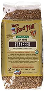 Bob's Red Mill Organic Raw Whole Brown Flaxseeds, 24-ounce (Pack of 4)