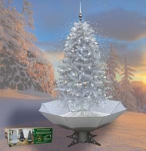 erlebnisladen sapin de no l avec neige tombante argent. Black Bedroom Furniture Sets. Home Design Ideas