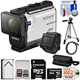Sony Action Cam FDR-X3000R Wi-Fi GPS 4K HD Video Camera Camcorder & Live View Remote with 64GB Card + Battery + Case + Tripod + Kit