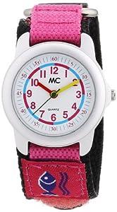MC 10615 - Reloj para niñas de cuarzo, correa de textil color rosa