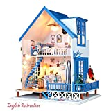 DIY Wooden Doll House Toy Miniatures DIY House With Light And Music