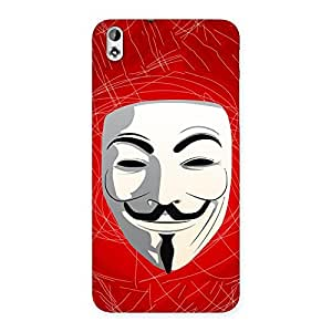 Cute Red Anonymous Mask Back Case Cover for HTC Desire 816s