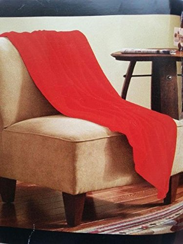 Ultra Soft Cozy Plush Fleece Throw Blanket - Red Cozy Warm, And Super Soft Great For Travel, Car, Train, Plane, Home, Outdoors, Etc. Blanket Size, 50 X 60 Inches