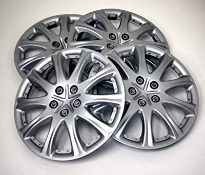 TuningPros WSC-503S15 Hubcaps Wheel Skin Cover 15-Inches Silver Set of 4