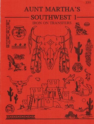 Southwest Aunt Martha'S Hot Iron Embroidery Transfers Booklet front-84975