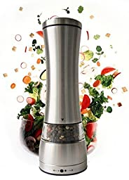 Victus Kitchenware Pepper Mill Salt and Pepper Grinder Spice Grinder Salt Mill Adjustable Manual Stainless Steel Cookware 100% REPLACEMENT GUARANTEE
