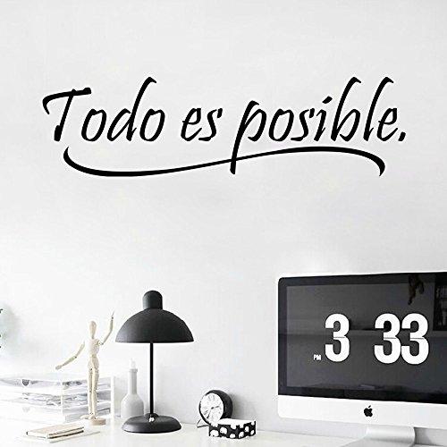 Lifeup disegn originale adesivo murale frase spagnolo for Camera da letto in spagnolo