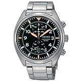 時計 Men セイコー Seiko SNN235 Stainless Steel Chronograph Quartz Link Bracelet Black Dial [並行輸入品]