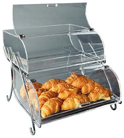 Rosseto BAK2937 2-Shelf Bakery Display Case, Clear (Bakery Countertop Display compare prices)