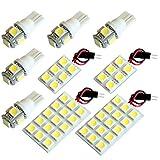 【断トツ201発!!】 F50 シーマ LED ルームランプ 9点セット [H13.1~H22.7] ニッサン 基板タイプ 圧倒的な発光数 3chip SMD LED 仕様 室内灯 カー用品 HJO