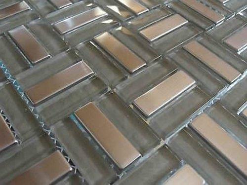 FLIESENTOPSHOP Glasmosaik Edelstahlmosaik Fliesen Mosaik Metallmosaik5