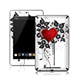 TaylorHe Vinyl Skins for Nexus 7 Tablet Ultra-slim Perfect Fit Made in Britain Colourful Decal With Patterns Red Love Heart and Vines