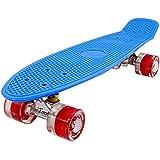 Skateboard Retro 57cm Mini Cruiser in plastica e ruote Skateboard con stile anni 70