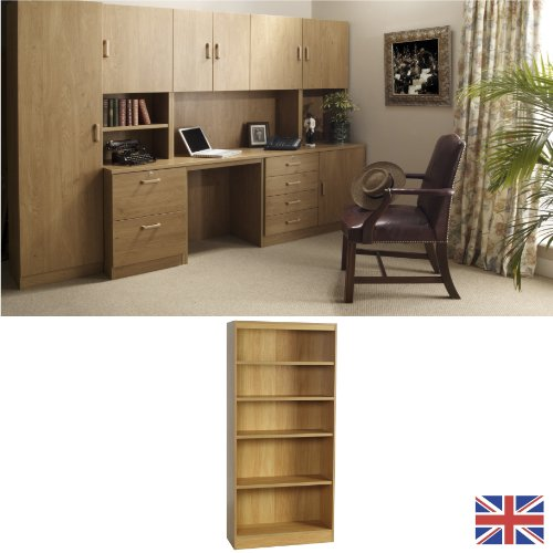 Home Office Furniture - Bookcase - English Oak - Wood Effect... FOR USE IN: study bedroom lounge conservatory WE ALSO MAKE: cupboard plan chest hideaway desk draw drawers table free standing computer unit skirting clearance