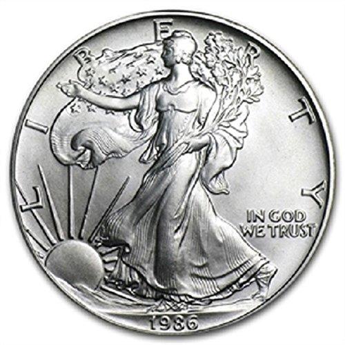 1986 1 Ounce American Silver Eagle 999 Fine Silver