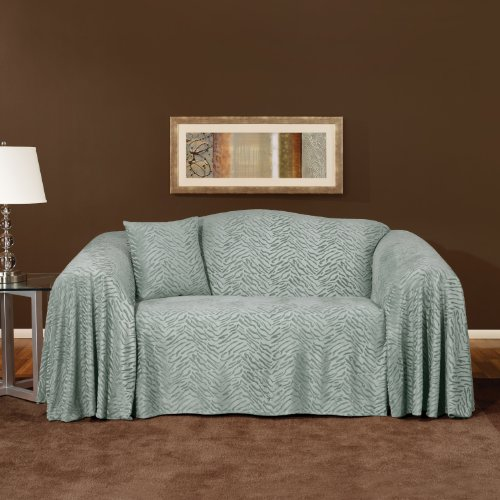 Buy Low Price Sure Fit Plush Animal Loveseat Throw in Mineral (159011117G)