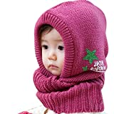 TOOPOOT(TM) New Designed Cute Baby Kids Wool Knitted Autumn Winter Warm Hat (Purple)