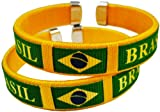 Brasil International Flag Cuff Bracelet