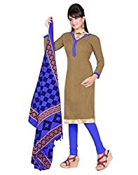 Indian Designer Bollywood Casual Wear Bhagalpuri Silk fabric Brown colour Un Stitch Branded Salwar Suit Dress Material for woman From Lookslady