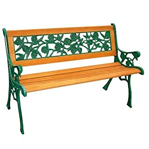 Banc de jardin en bois et fonte jardin - Banc de jardin chez jardiland ...