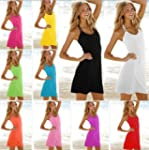 Women Color Bikini Swimwear Dress Bea...