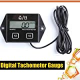 Spark Plugs Engine Digital Tach Hour Meter Tachometer Gauge Motorcycle Bike