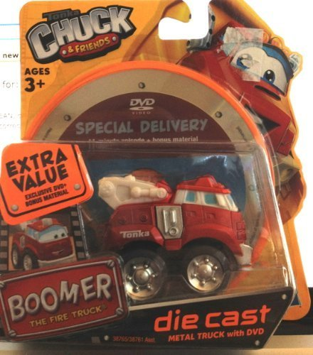 Tonka Chuck and Friends Boomer the Fire Truck Diecast with Dvd - 1