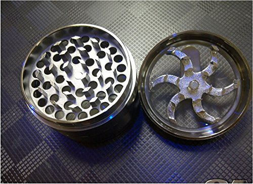 Mill Aluminium Diamond Teeth Grinder Herb Grinder 4 Part