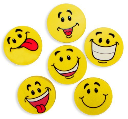 Bulk Smile Face Eraser Assortment (4 dz)
