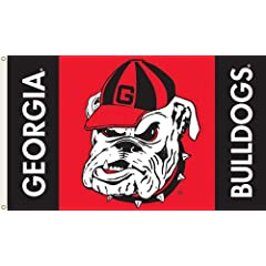 Buy NCAA Georgia Bulldogs 3-by-5 Foot Flag Bulldog Logo with Grommets by BSI