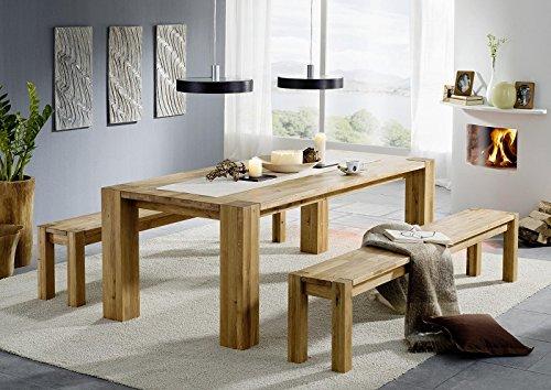 Table de salle à manger en chêne massif huilé berlin 160 x 90 cm