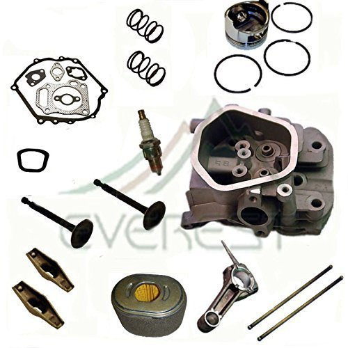 KIT FITS HONDA EB5000 EB6500 EB7000 EG5000 EM5000 EM6500 EM7000 EN5000 EU6500 EX4500 EZ5000 CYLINDER HEAD FOR HONDA GENERATOR PISTON AIR FILTER ROCKER ARMS CONNECTING ROD (Honda Eg5000 compare prices)