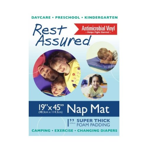 Premium Nap Mat by Anthony Williams, 19 x 45 in., Rest mat, Childcare Sleep Mat, Made in the USA, Each