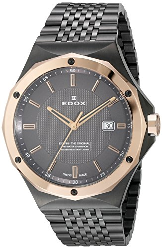 Edox-Mens-53005-37GRM-GIR-Delfin-Analog-Display-Swiss-Quartz-Grey-Watch
