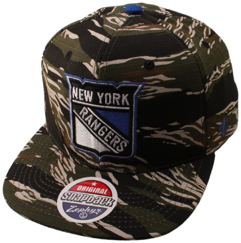 NHL New York Rangers Urban Jungle Hat, Camo/Tiger at Amazon.com
